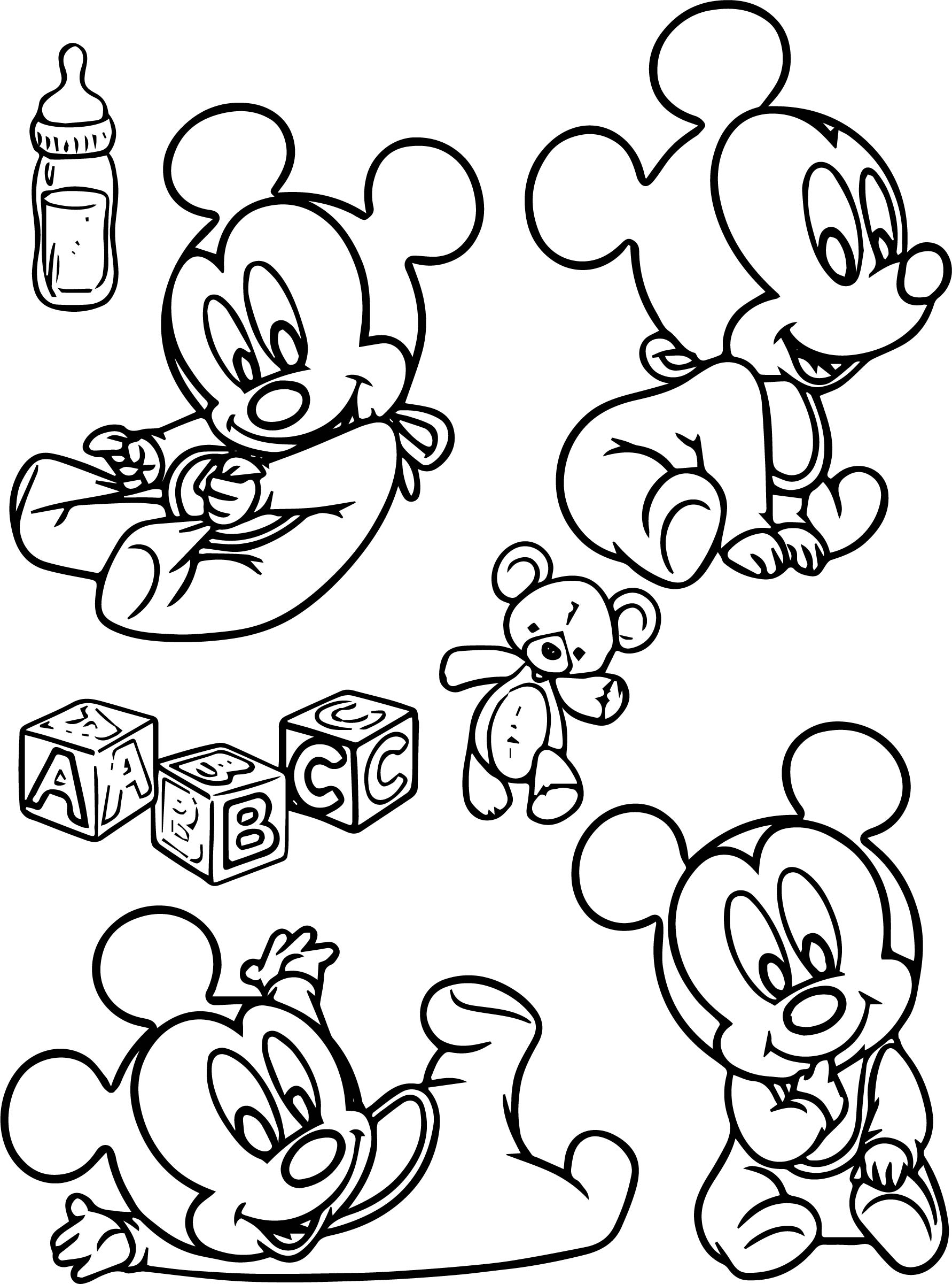 Baby Mickey Coloring Page