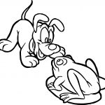 Baby Pluto And Frog Coloring Page