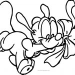 Baby Pluto Gift Bone Coloring Pages