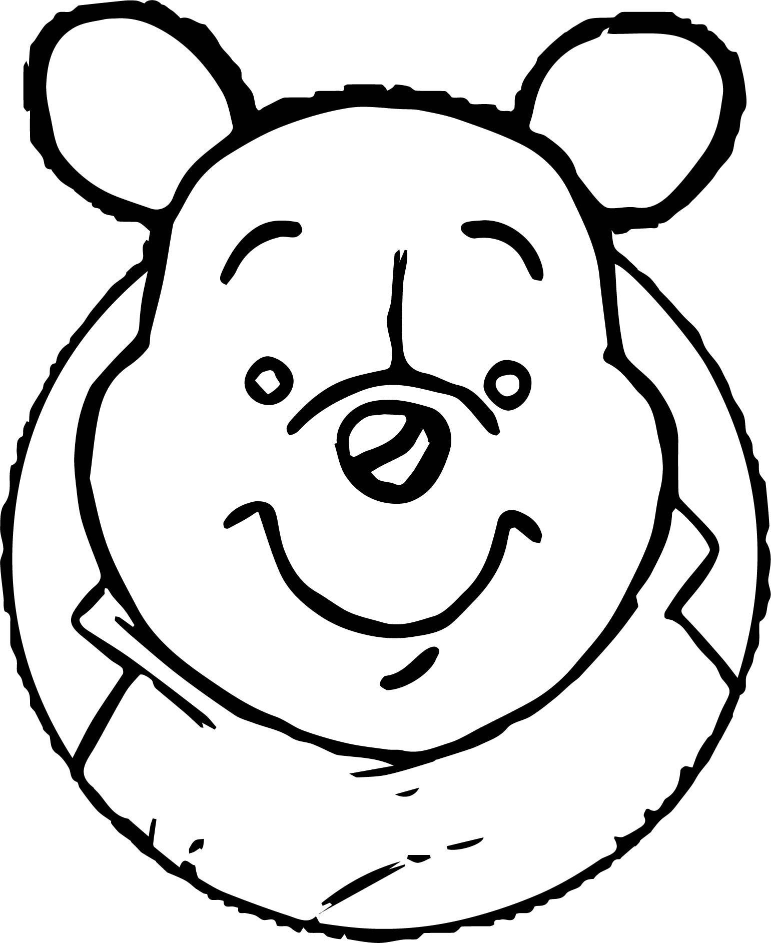 baby pooh coloring pages - baby pooh big face coloring page