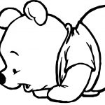 Baby Pooh Lady Bug Coloring Page