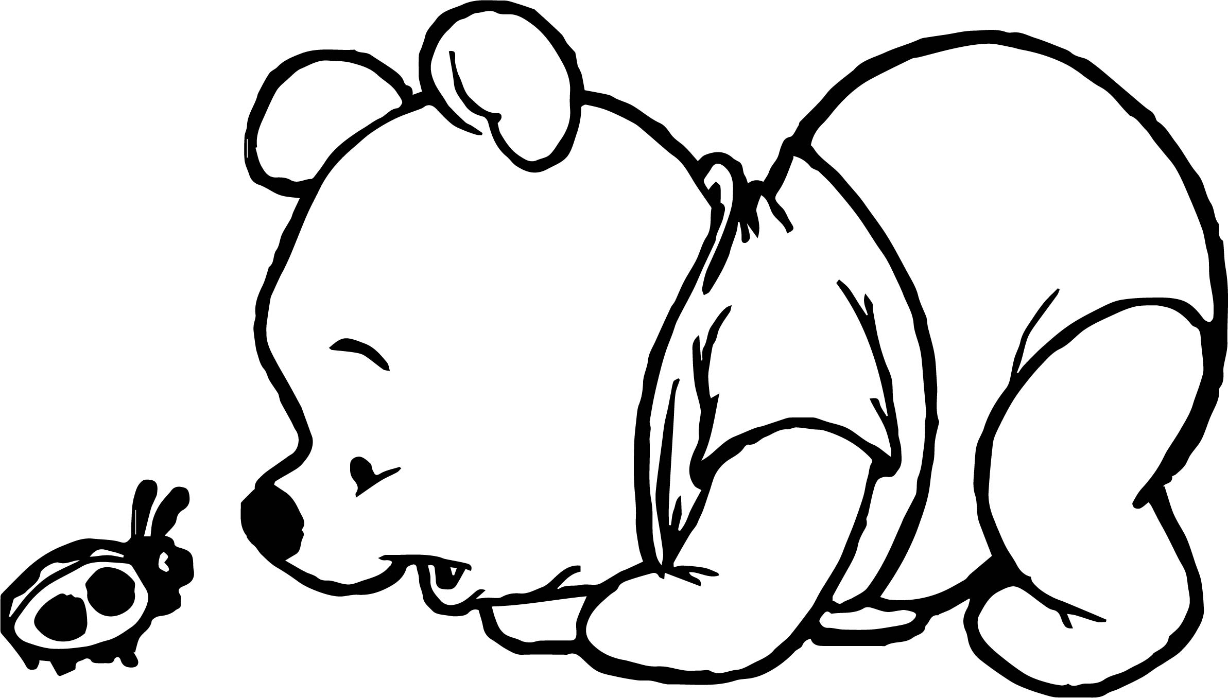 baby pooh lady bug coloring page - Bug Coloring Page