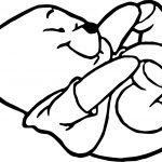Baby Pooh Little Foot Coloring Page