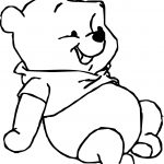 Baby Pooh Rest Coloring Page