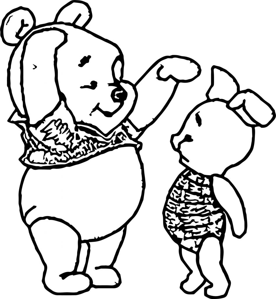 Baby pooh short tall coloring page for Free pooh bear coloring pages