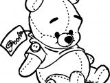 Baby Pooh Toy Gift Coloring Page