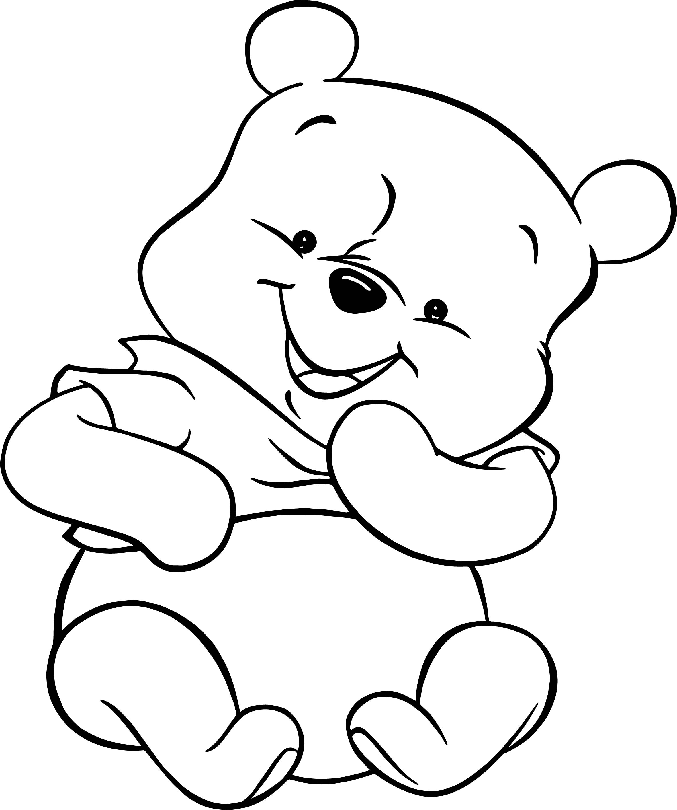 Baby Pooh Toy Gift Coloring Pages