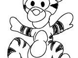 Baby Tigger Sketch Coloring Page