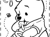 Baby Winnie The Pooh Coloring Page