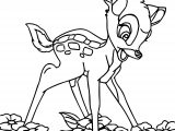 Bambi Flower Coloring Pages