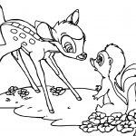 Bambi Flowerf Polecat Skunk Coloring Pages