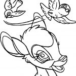 Bambi Flying Birds Coloring Pages