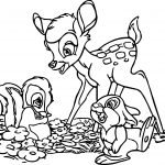 Bambi Friends Coloring Pages