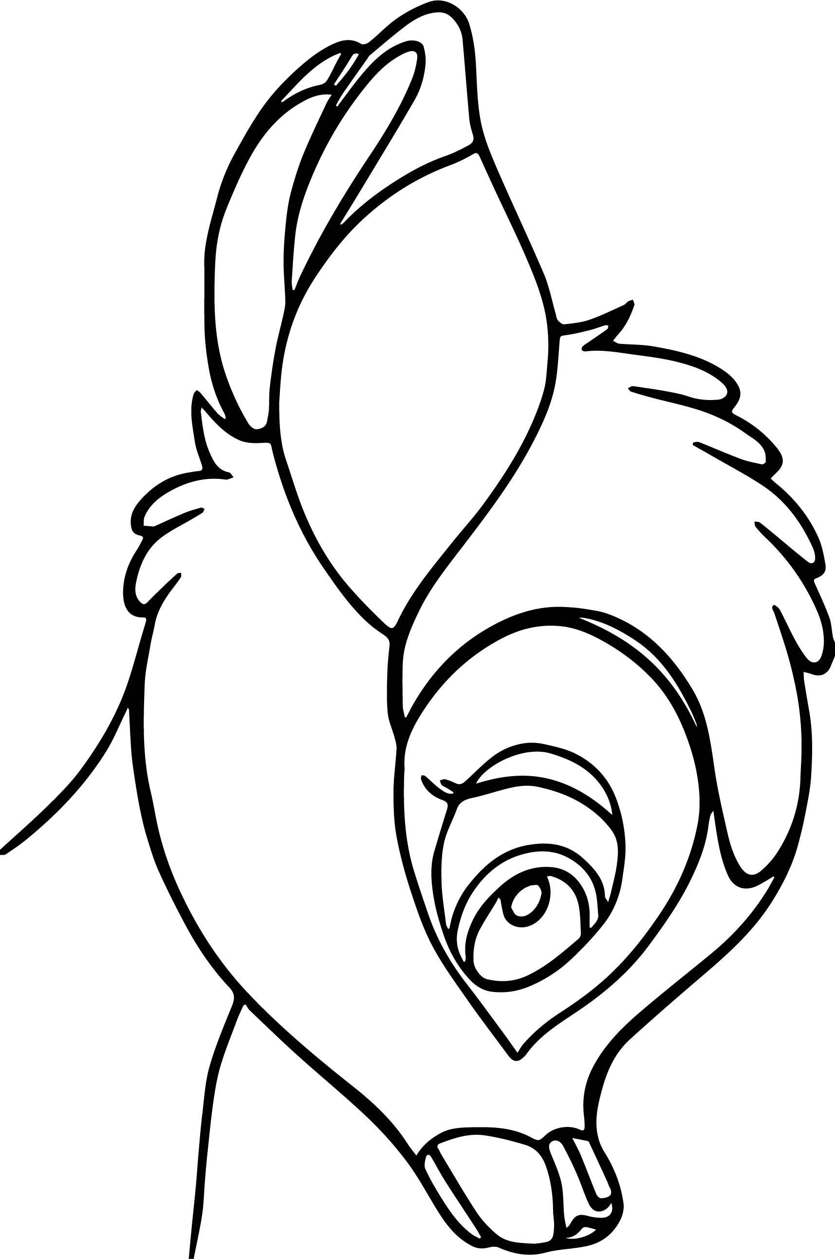 Bambi Head Coloring Pages