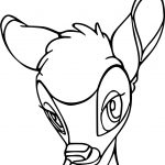 Bambi Head Listen Coloring Pages