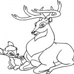 Bambi Prince And Mother Coloring Page