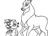 Bambi and the Great Prince of the Forest Talking Coloring Page