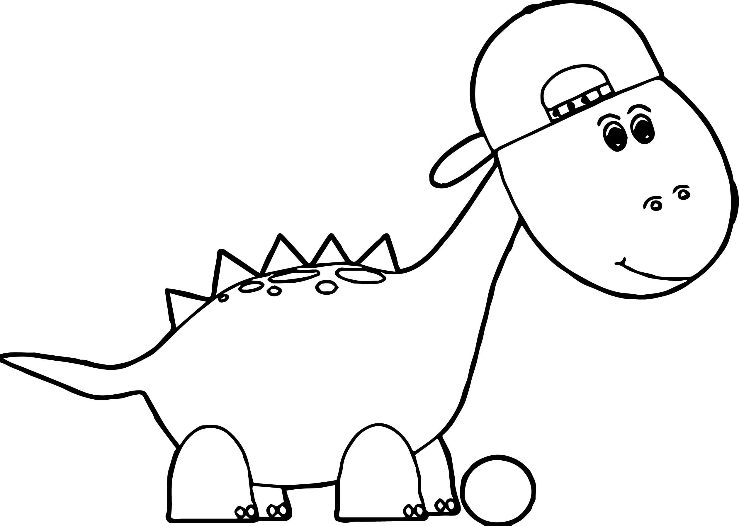 Baseball Dinosaur Coloring Page