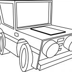Basic Cartoon Car Bold Coloring Pages