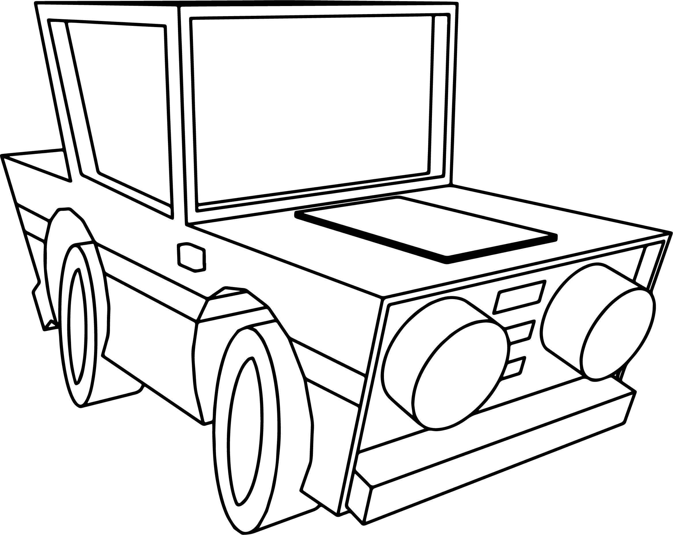 Basic Car Coloring Pages : Basic cartoon car bold coloring pages wecoloringpage