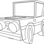 Basic Cartoon Car Coloring Page