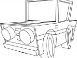 Basic Cartoon Car Coloring Page