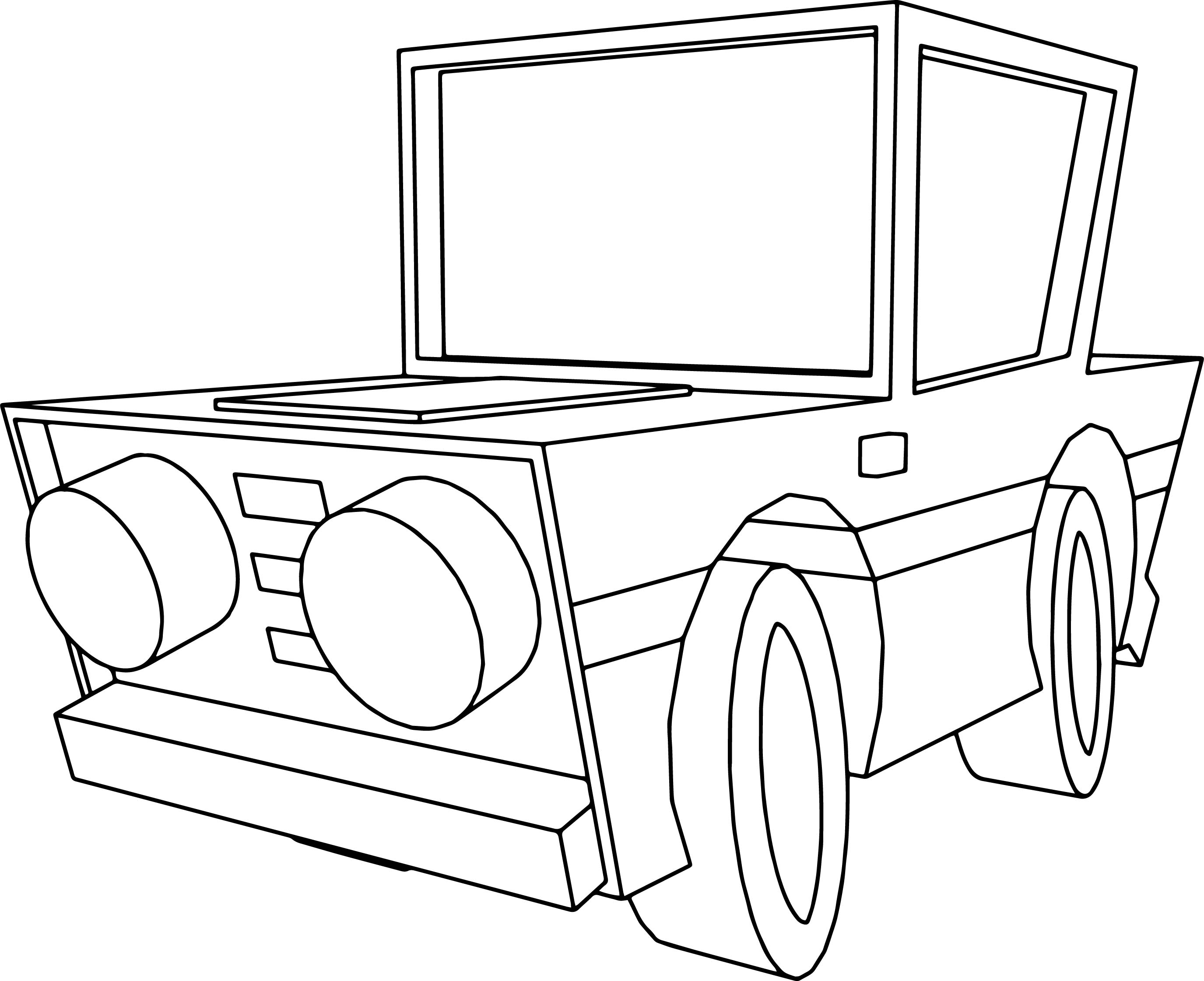 Basic Car Coloring Pages : Basic cartoon car coloring page wecoloringpage