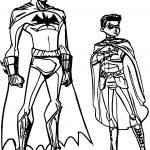 Batman And Robin Ready Coloring Page