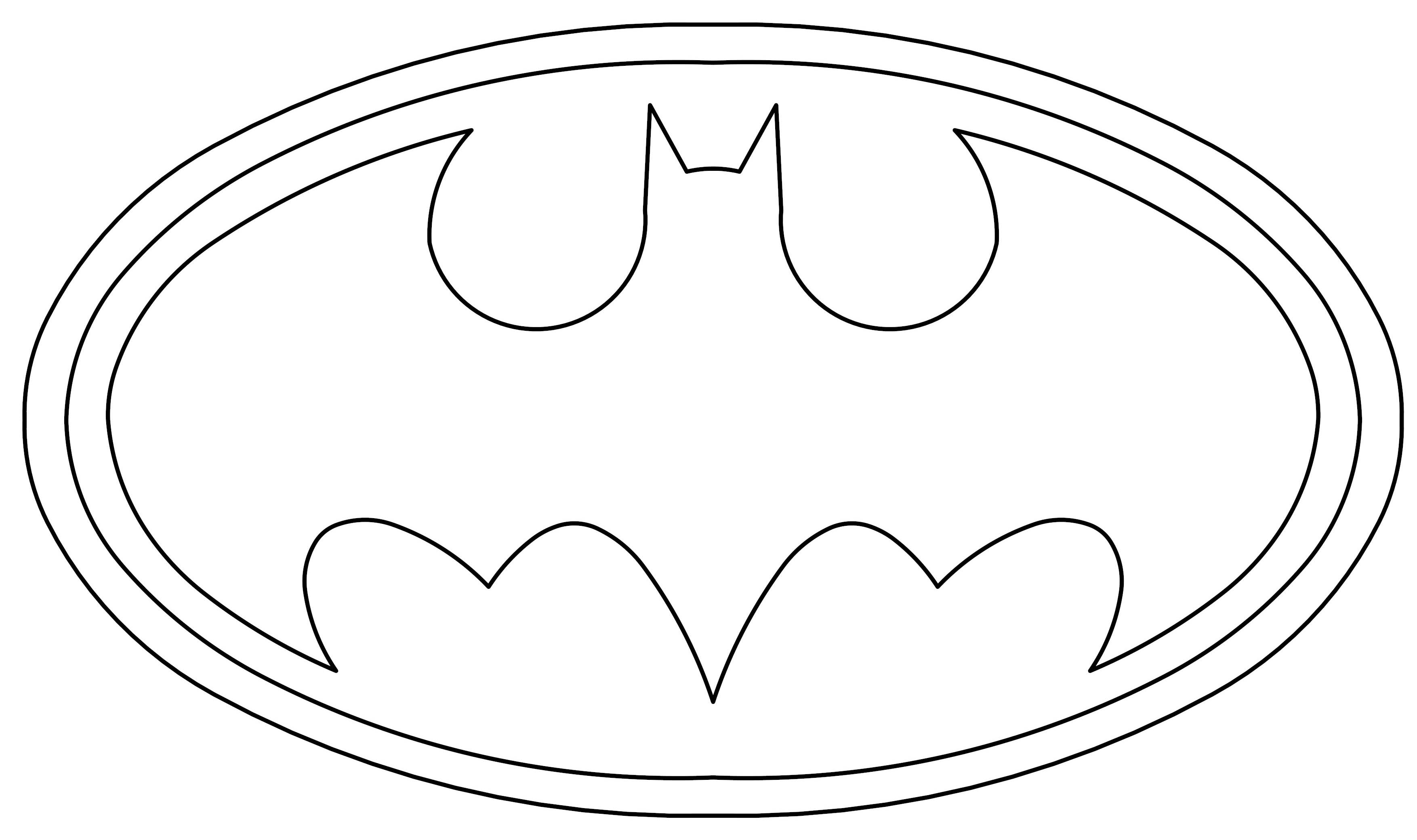Batman Logo Coloring Pages Printable Sketch Coloring Page