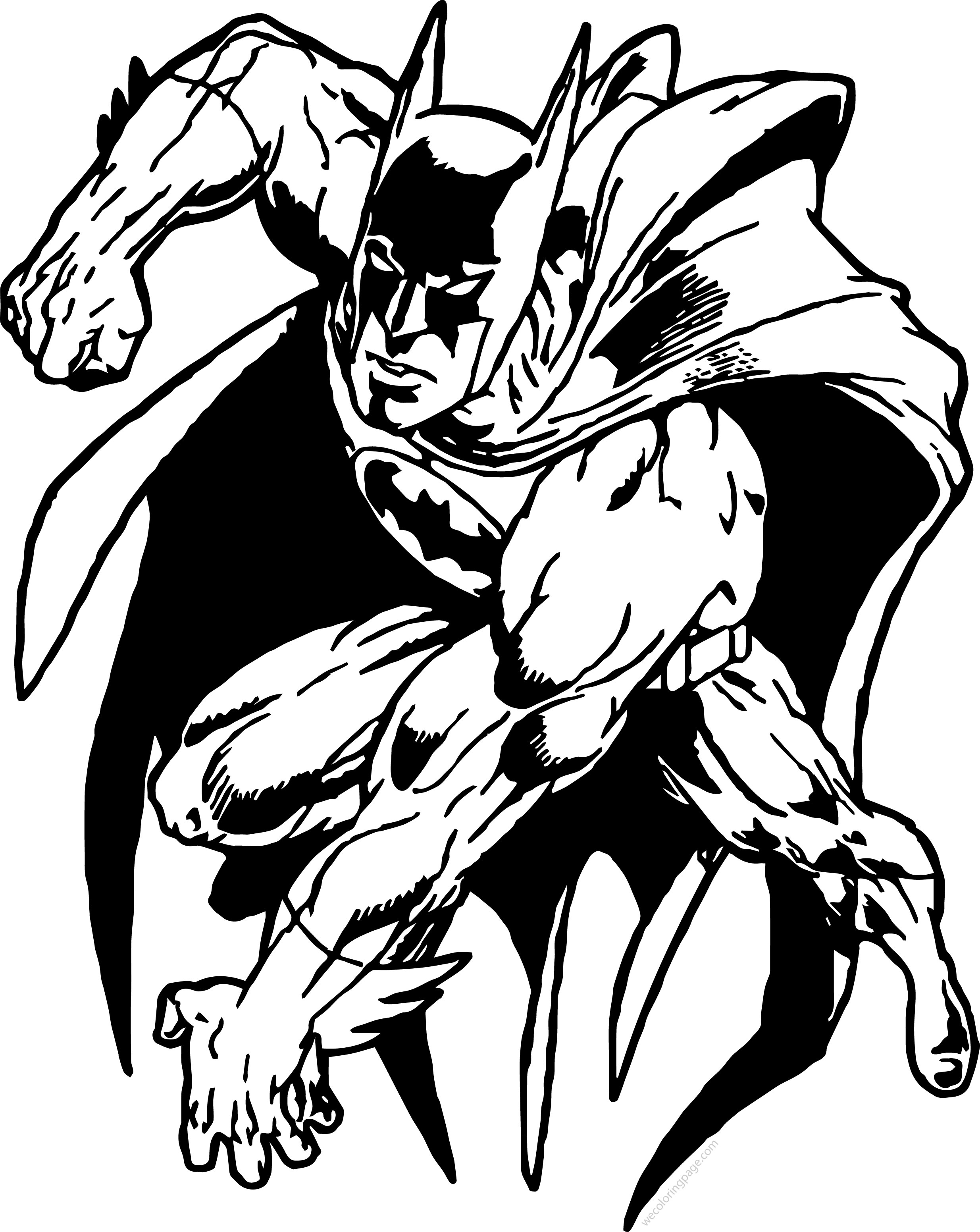 Batman Picture Coloring Page