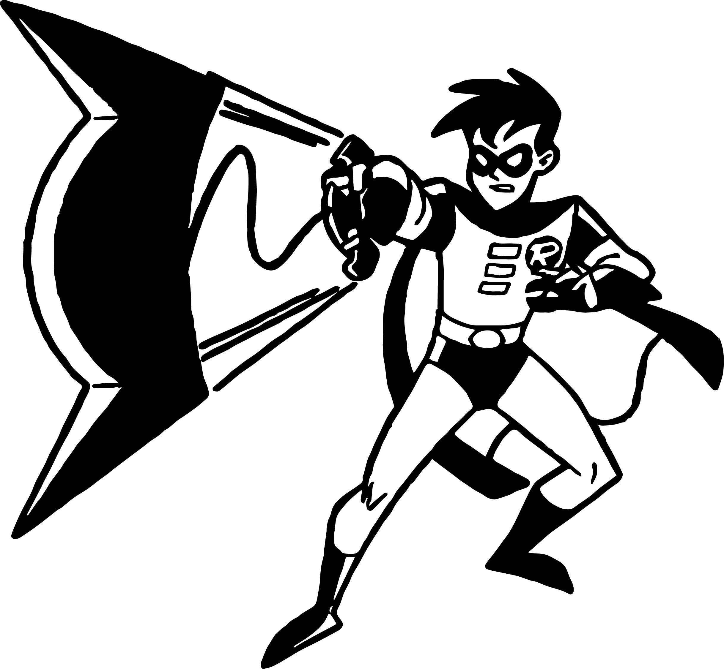 Batman robin bat gun coloring page for Batman robin coloring pages