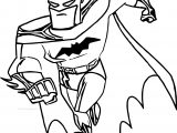 Batman Run Coloring Page