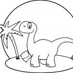 Beach Dinosaur Dinosaur Coloring Page
