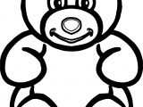 Bear Bigger Front View Bold Line Coloring Page
