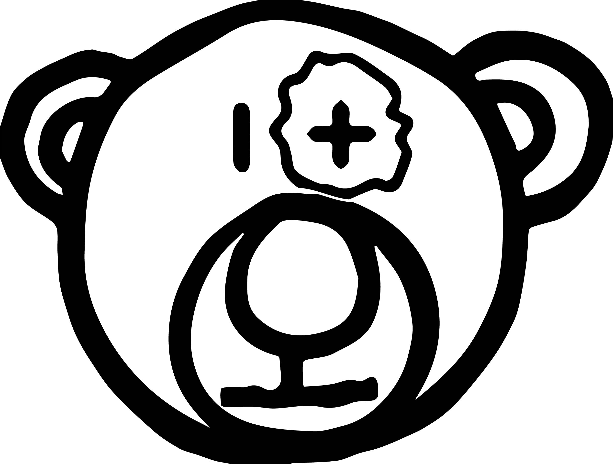 Bear Blow Face Coloring Page