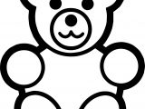 Bear Bold Line Coloring Page