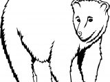 Bear Standing Coloring Page