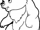 Bear Talking Coloring Page