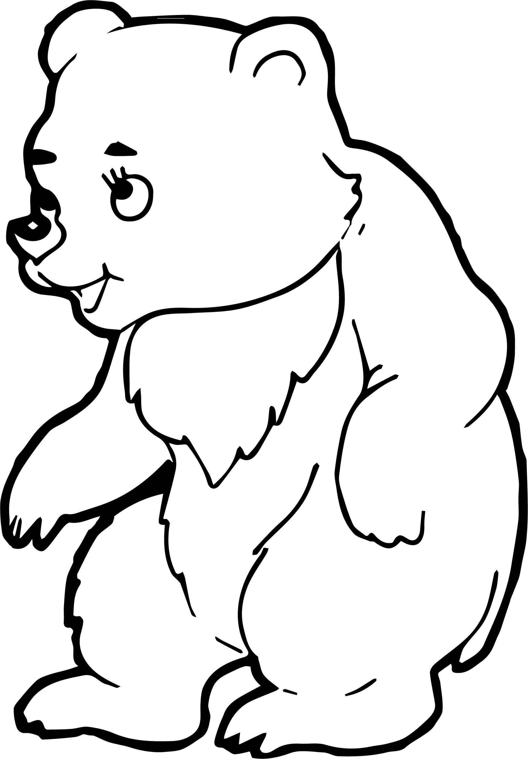 Bear Talking Coloring Page