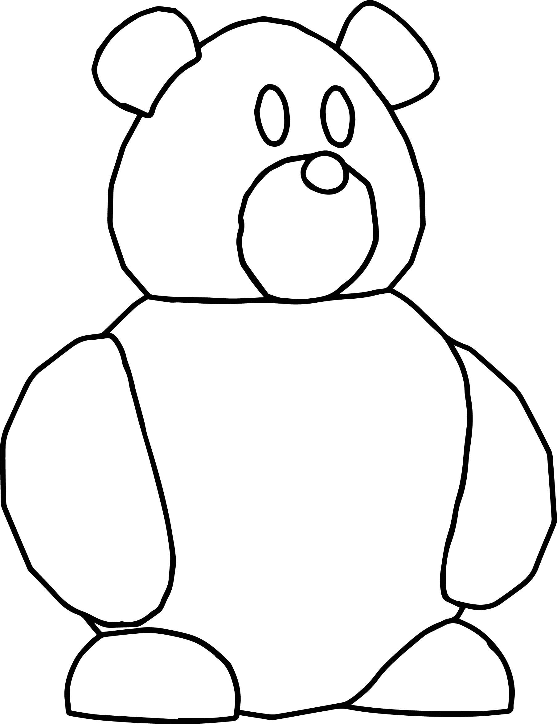 Bear Too Basic Cartoon Coloring Page
