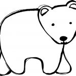 Bear Walking Coloring Page
