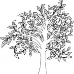 Beautiful Fall Tree Coloring Page