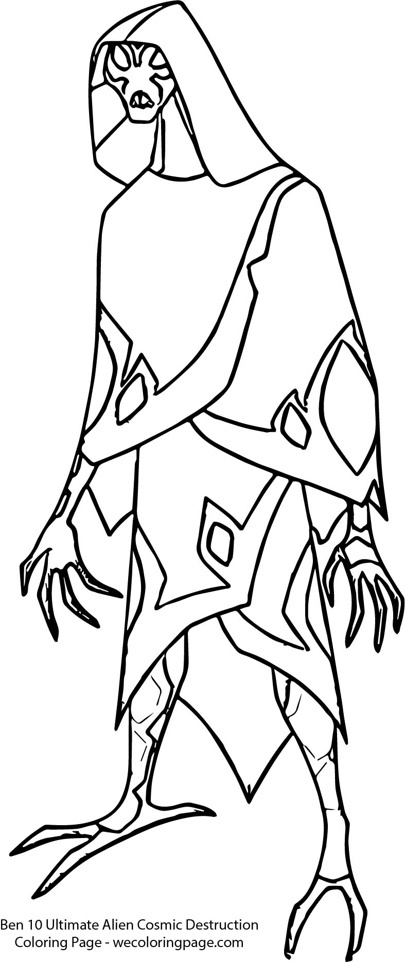 Ben 10 Ultimate Alien Cosmic Destruction Coloring Page