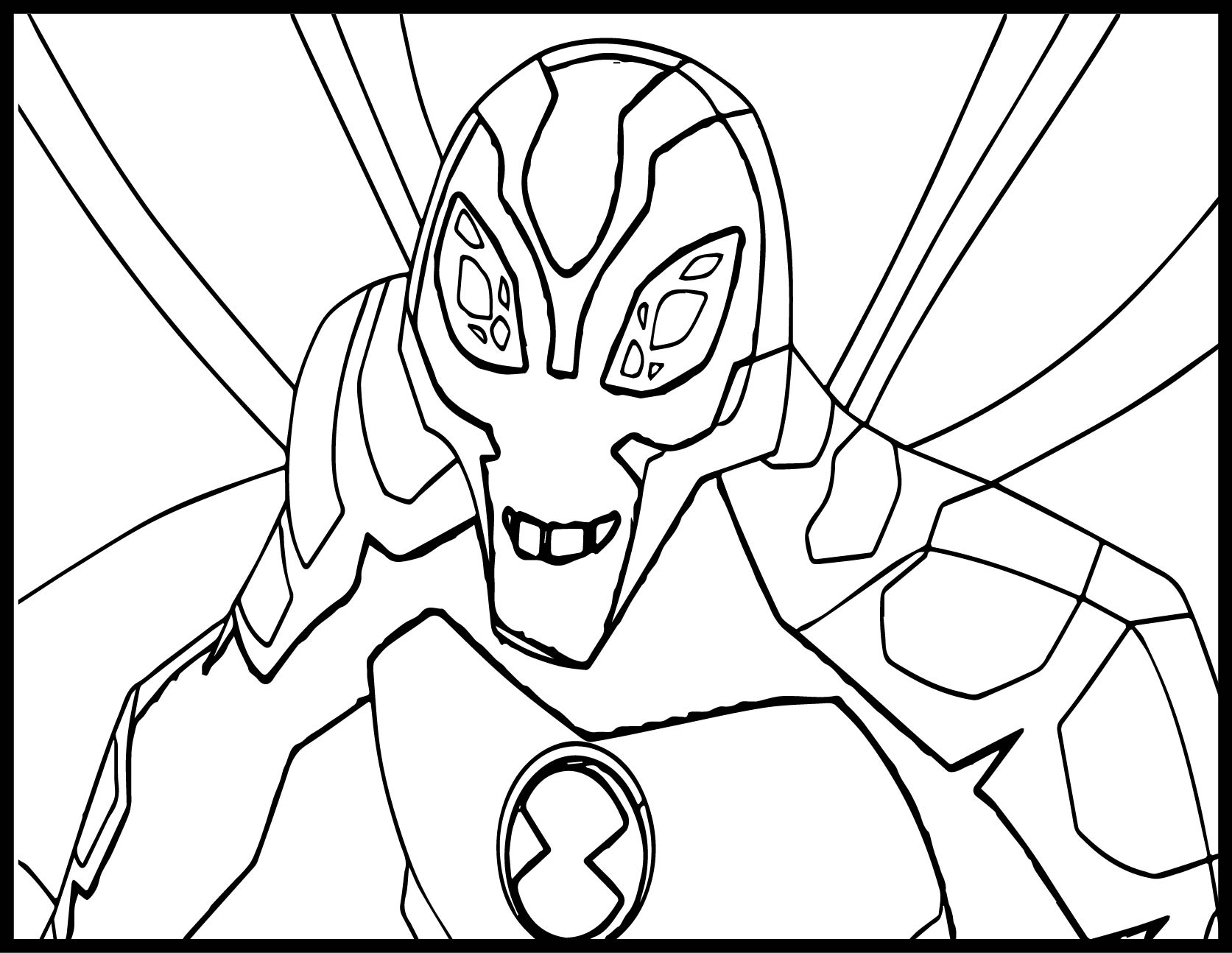 Ben ten alien force big chill by flutterfly coloring page for Ten coloring page