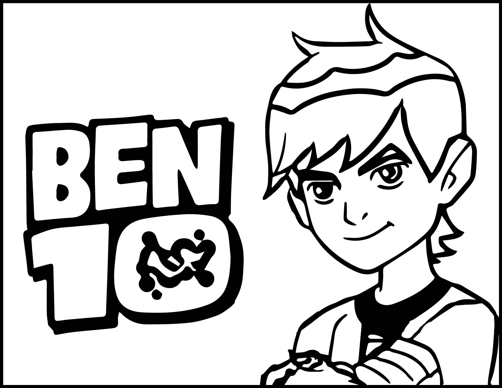 Ben 10 Alien Force Coloring Pages. Simple Ben Coloring Online G ...