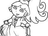 Best Beautiful Princess Dora The Explorer Coloring Pages
