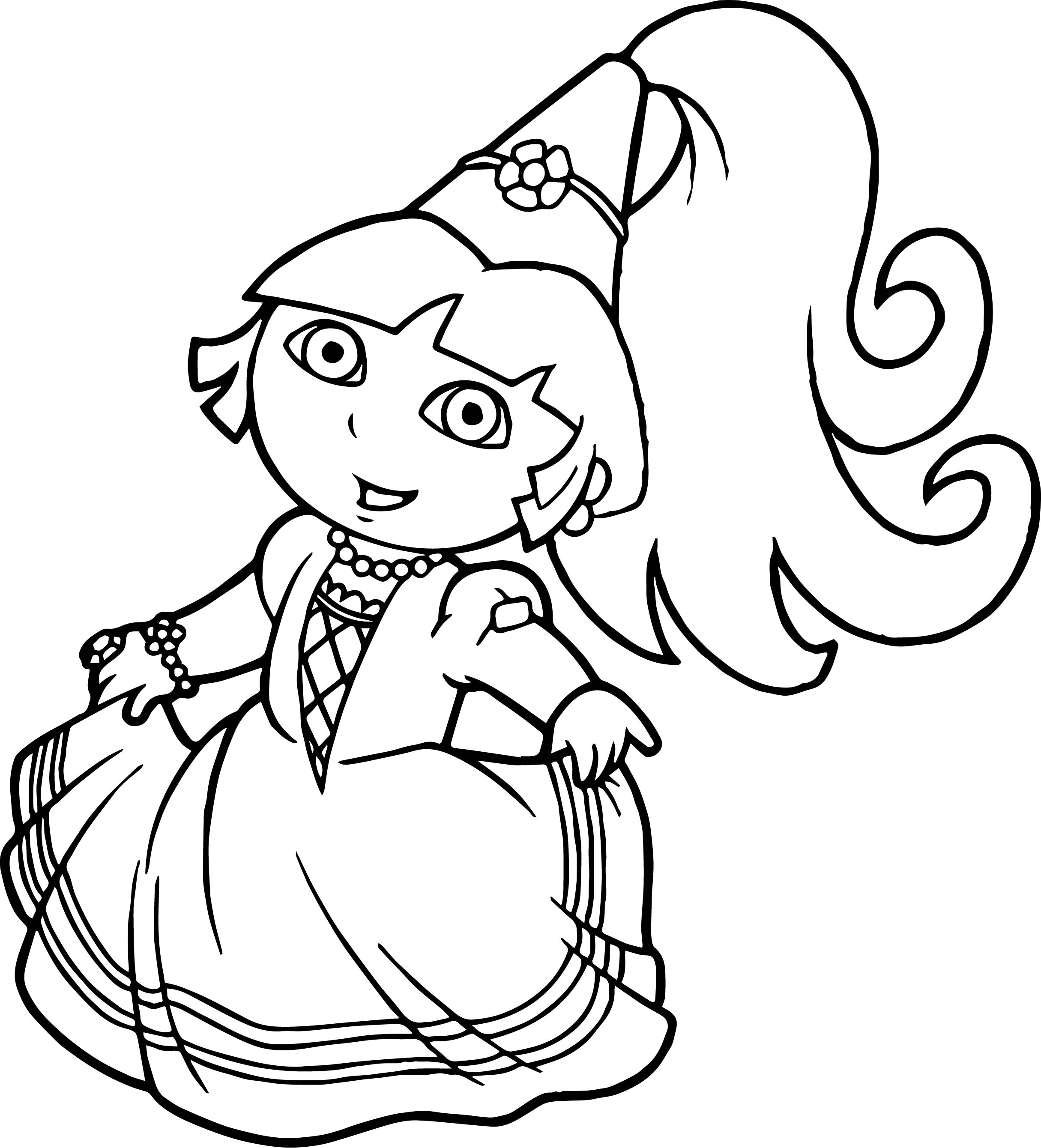 dora coloring pages free - best beautiful princess dora the explorer coloring pages