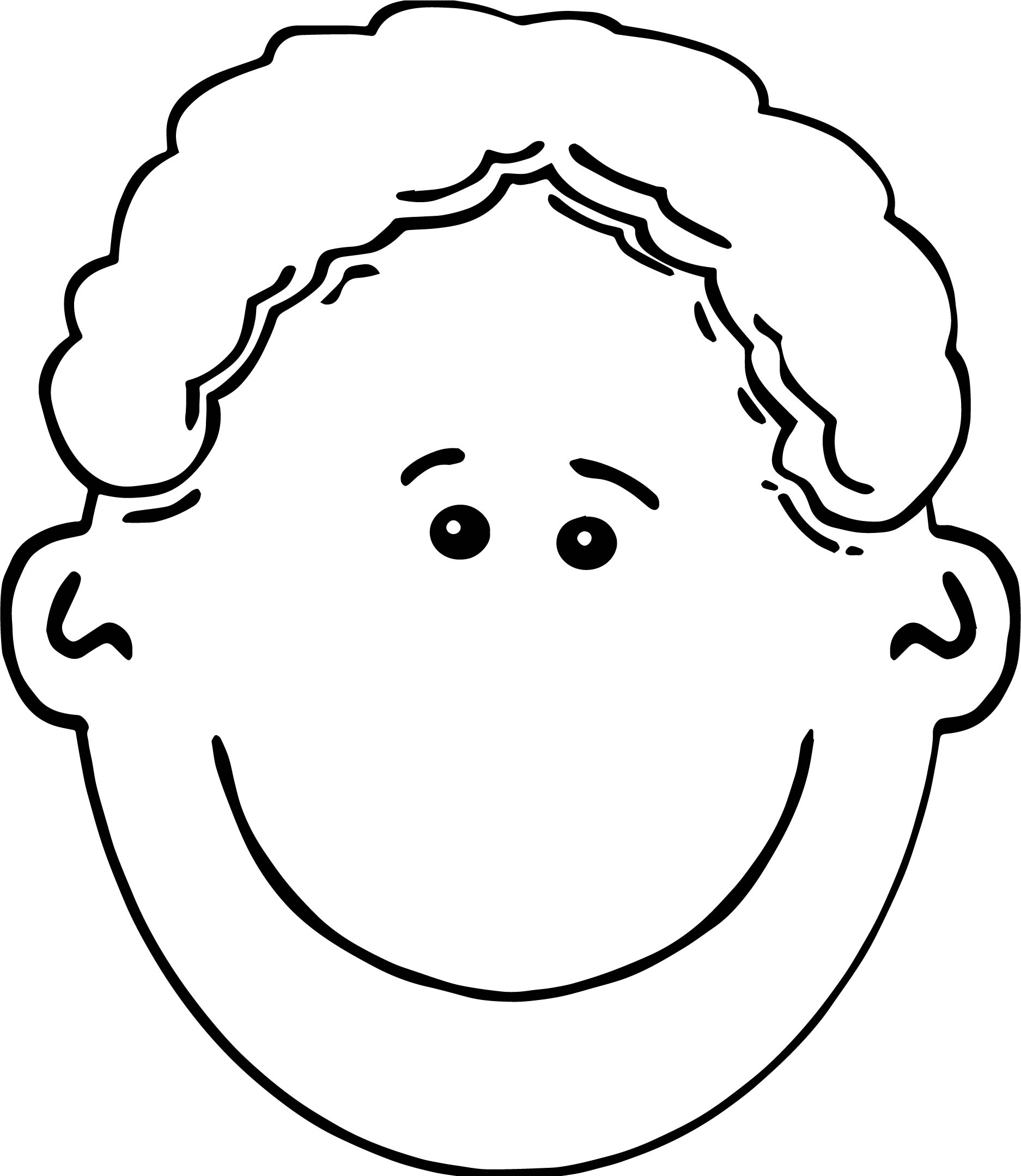 Big Boy Face Coloring Page