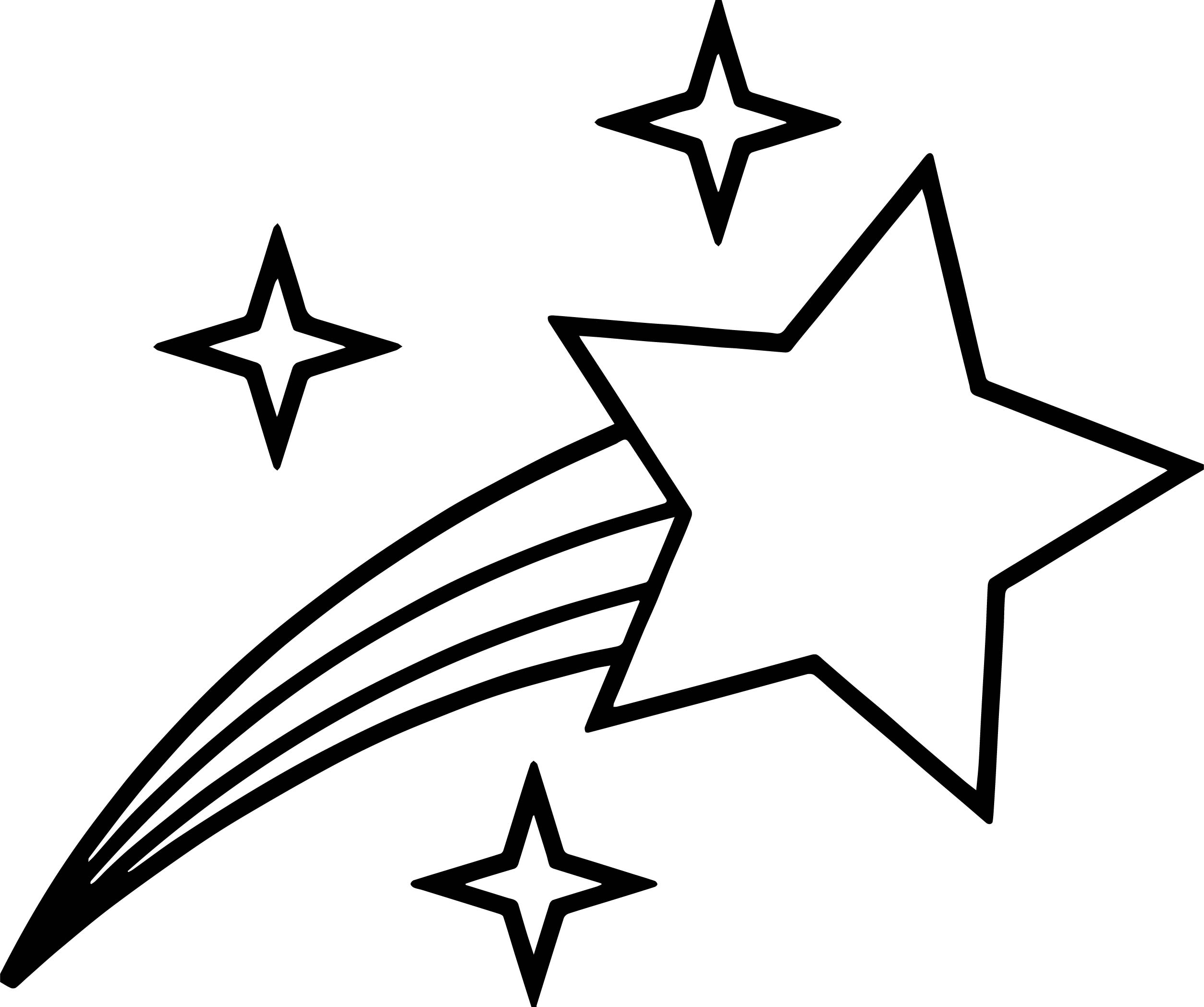 Big Small Stars Coloring Page