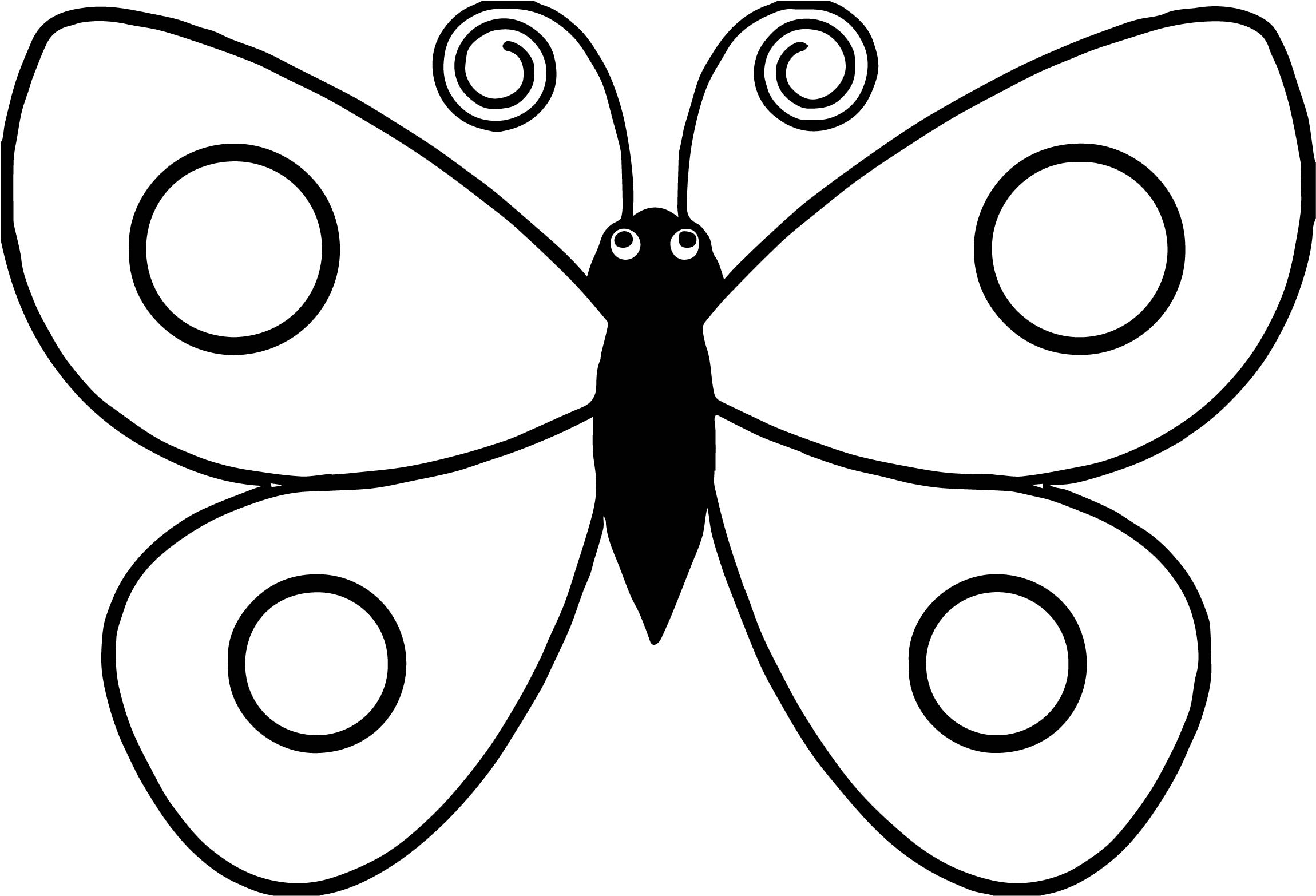 Black body butterfly coloring page for Butterfly coloring pages